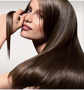 rambut rambut sehat, kuat, berkilautanpa cabang